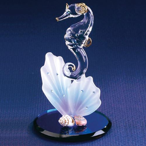 Sea Horse & Shell Glass Figurine GL3728