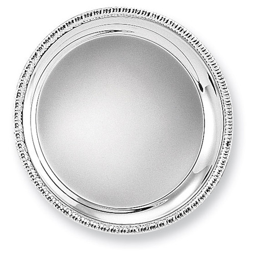 Silver-plated 8 Round Fancy Edge Tray GL9183