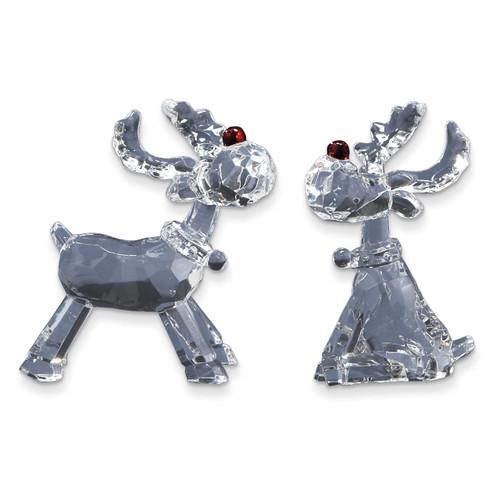 2-Piece Acrylic Reindeer Figurine Set GM10543