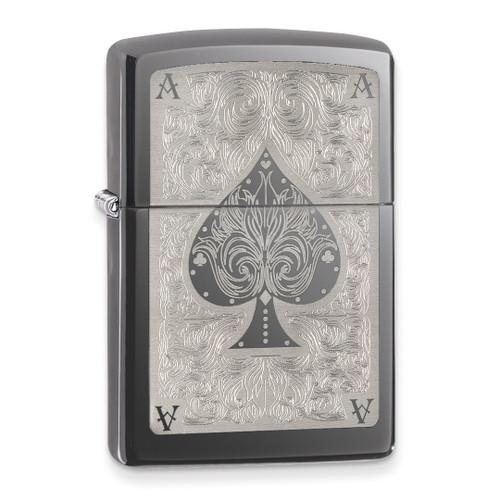 Zippo Ace Filigree Black Ice Lighter GM11231