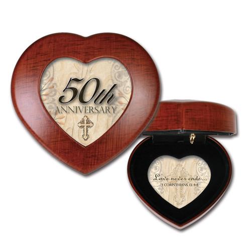 50th Anniversary Cross Heart Music Box GM11641
