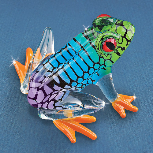 Island Hopper Frog Glass Figurine GM1195