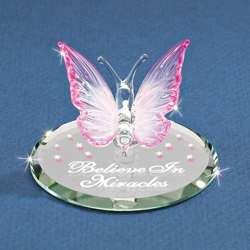 Believe Butterfly Glass Figurine GM1198