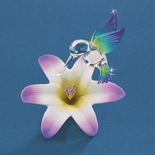 Hummingbird and Lily Glass Figurine GM1216