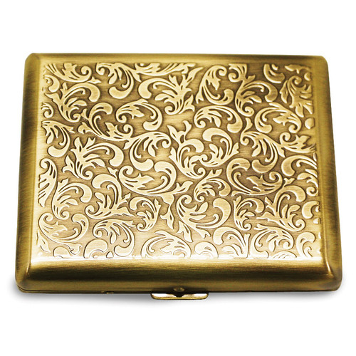 Antique Gold-tone (Holds 20) Cigarette Card Case GM12312