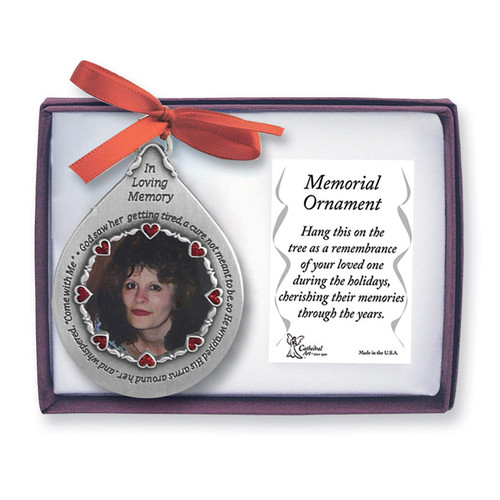 Memorial Photo Ornament - Her GM4177