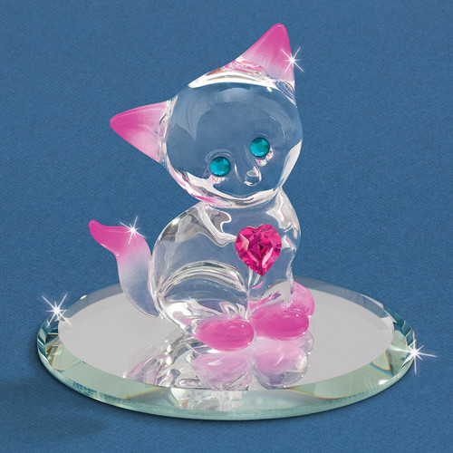 Crystal Kitty Glass Figurine GM6690