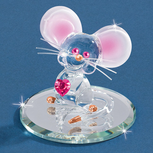 Too Cute Mouse Glass Figurine GM6707