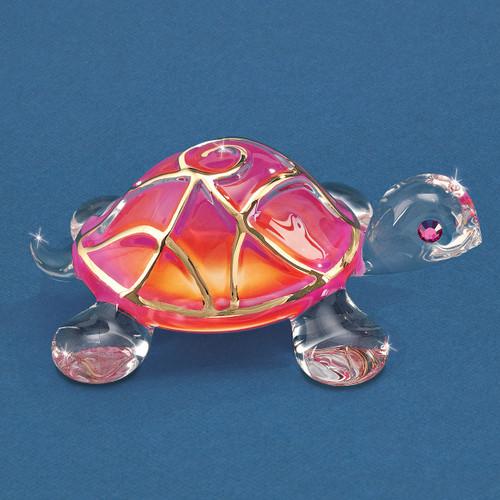 Sunrise Turtle Glass Figurine GM6721