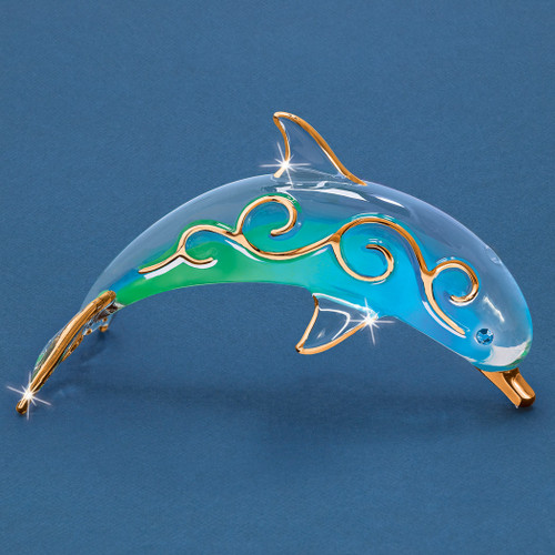 Paradise Dolphin Glass Figurine GM6722