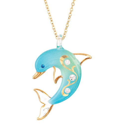 Turquoise Dolphin Necklace GM9398
