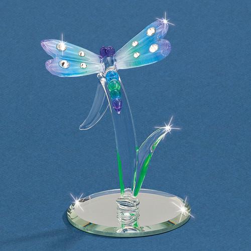 Rainbow Dragonfly Glass Figurine GM9434
