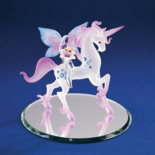 Unicorn with Fairy Glass Figurine GP1141