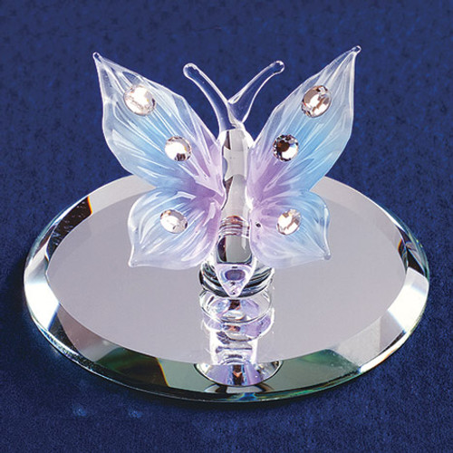 Blue Butterfly Glass Figurine GP1144