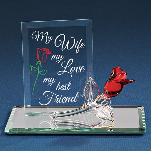 My Wife My Best Friend Glass Figurine GP6032