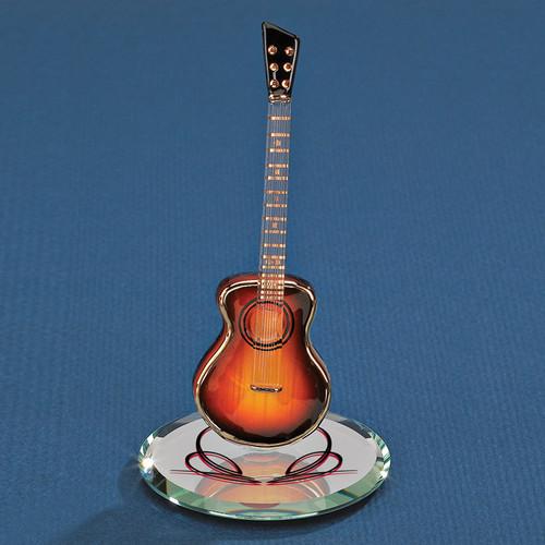Sunburst Acoustic Guitar Glass Figurine GP6065