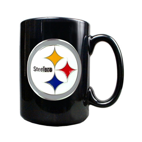 Pittsburgh Steelers 15oz Black Ceramic Mug GC156
