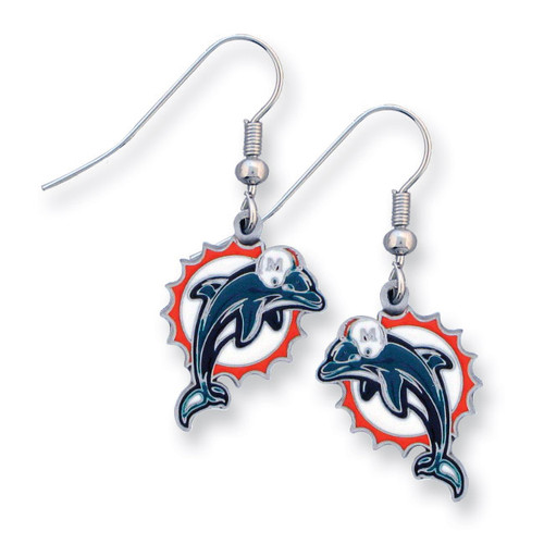 Dolphins Enameled Zinc Dangle Earrings GM2605