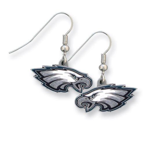 Eagles Enameled Zinc Dangle Earrings GM2606