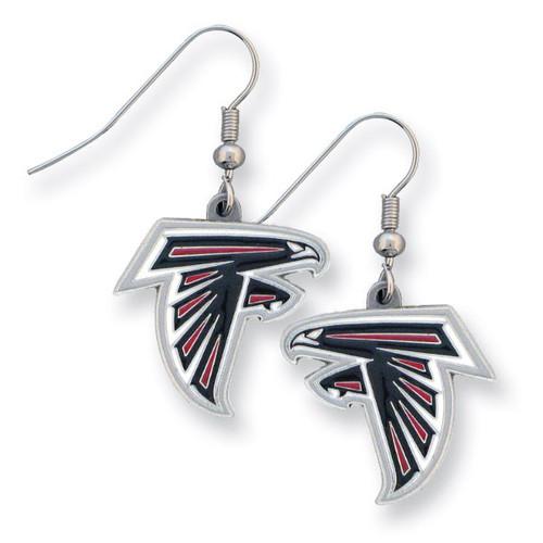 Falcons Enameled Zinc Dangle Earrings GM2607