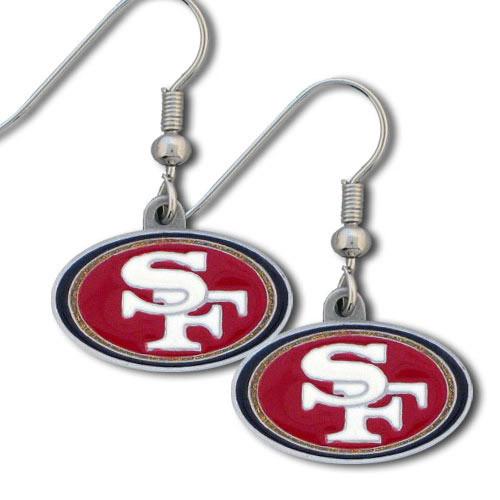 49ers Enameled Zinc Dangle Earrings GM2608