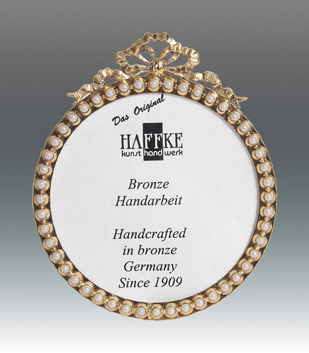 Haffke Bronze with Pearl Round Picture Frame 3 Inch