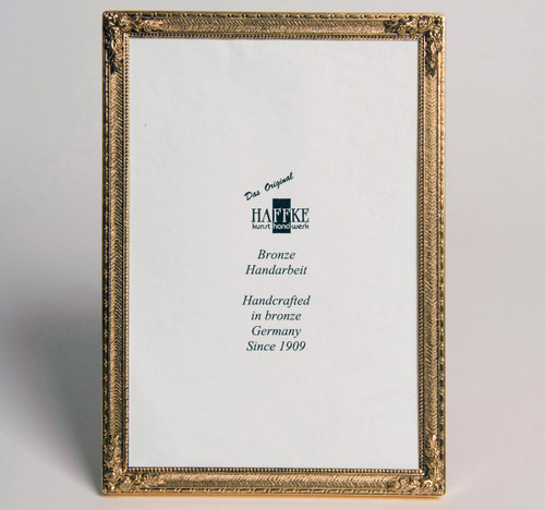 Haffke Bronze With Rose Picture Frame 4 x 6 Inch