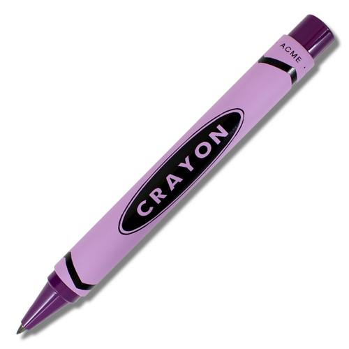 ACME Crayon - Purple  Retractable Roller Ball By Adrian Olabuenaga