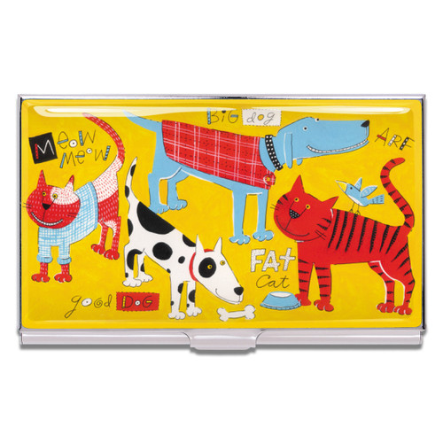 ACME Cats & Dogs Business Card Case By Nancy Wolff