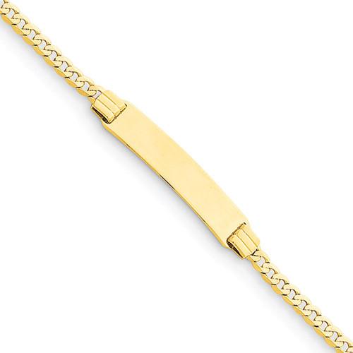 Curb Link Child ID Bracelet 14k Gold BID45-6