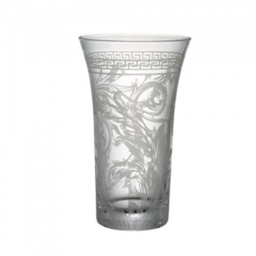 Versace Arabesque Vase Crystal 10 1/2 inch Amber