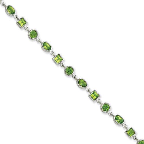 Peridot Bracelet Sterling Silver QX615PE