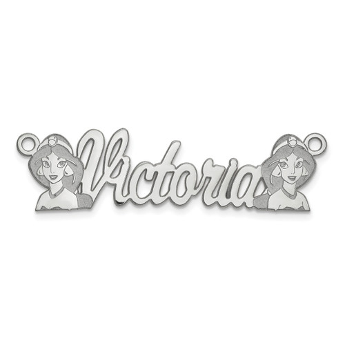 Disney Nameplate 14k White Gold XNA468W