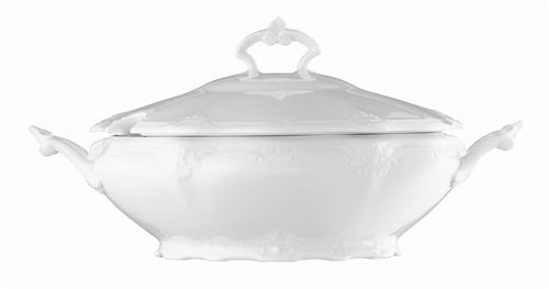 Rosenthal Baronesse White Vegetable Bowl Covered 50 ounce
