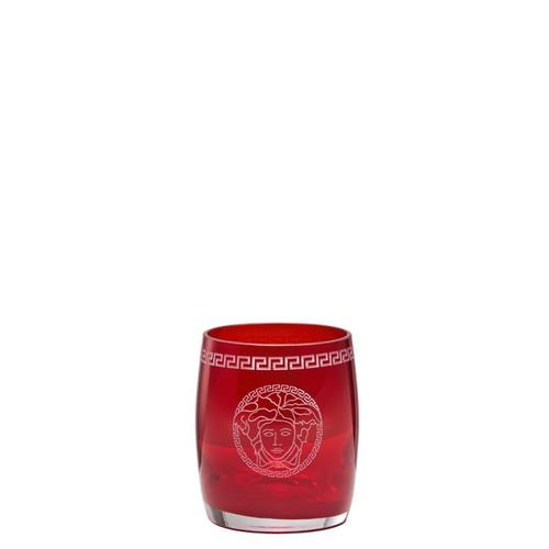 Versace Medusa Crystal Red Whisky Glass