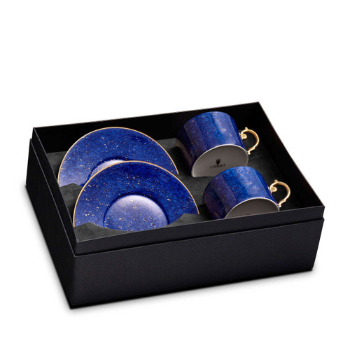 L'Objet Lapis Tea Cup and Saucer Gift Box of 2