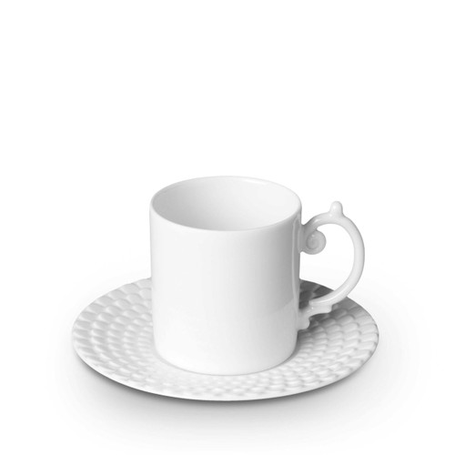 L'Objet Aegean Espresso Cup and Saucer White