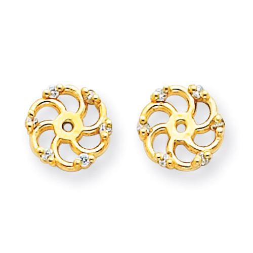 Diamond Earring Jacket Mountings 14k Gold XJ7