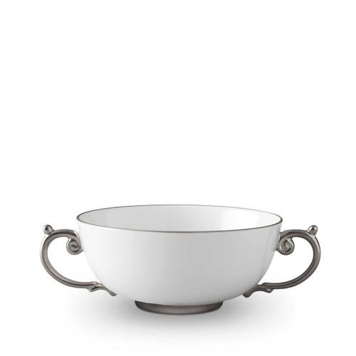 L'Objet Aegean Soup Bowl Platinum