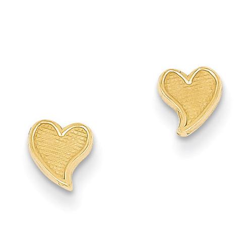 Heart Earrings 14k Gold YE6