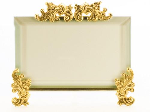 La Paris Acanthus 8 x 10 Inch Brass Picture Frame - Horizontal