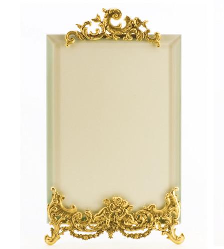 La Paris Angelique 5 x 7 Inch Brass Picture Frame - Vertical