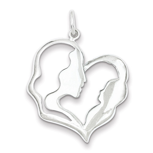 Mother & Baby Pendant Sterling Silver QC1609