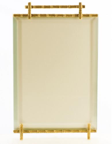 La Paris Bamboo 4 x 6 Inch Brass Picture Frame - Vertical