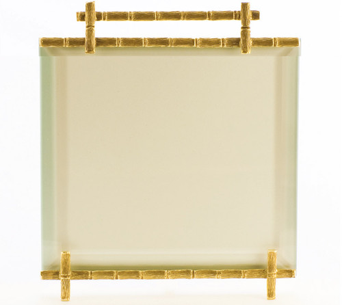 La Paris Bamboo 5 x 5 Inch Brass Picture Frame
