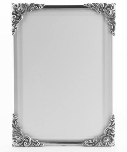 La Paris Baroque 8 x 10 Inch Silver Plated Picture Frame - Vertical