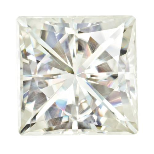 6.5 mm Square Brilliant Moissanite Stone White MT-0650-SQB-WH