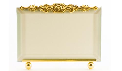La Paris Brittany 5 x 7 Inch Brass Picture Frame - Horizontal