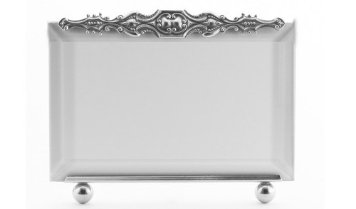 La Paris Brittany 4 x 6 Inch Silver Plated Picture Frame - Horizontal