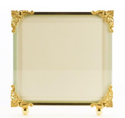La Paris Corner Decor 10 x 10 Inch Brass Picture Frame